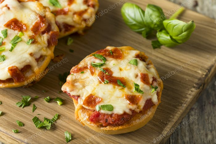 Homemade Pepperoni Mini Pizza Bagels