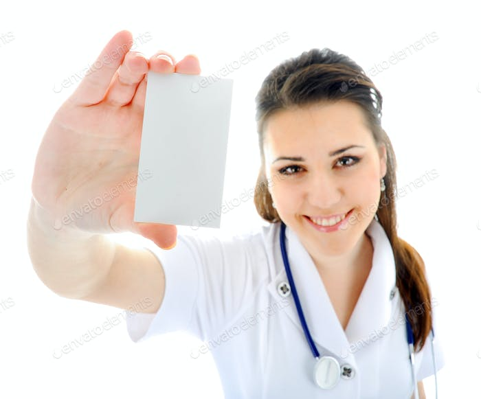 The doctor on a white background