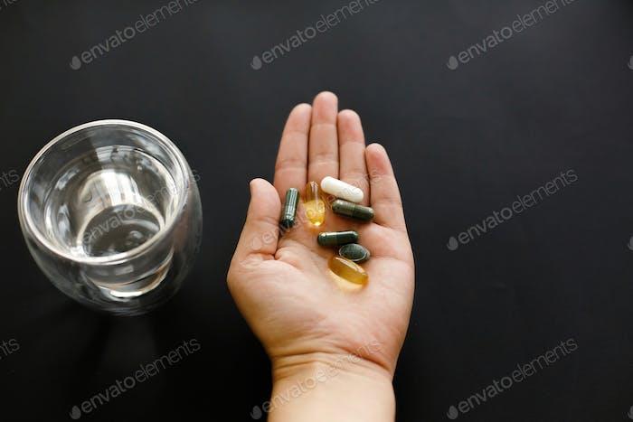 Morning vitamin pills