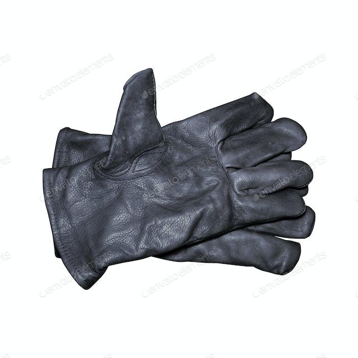 Black work gloves
