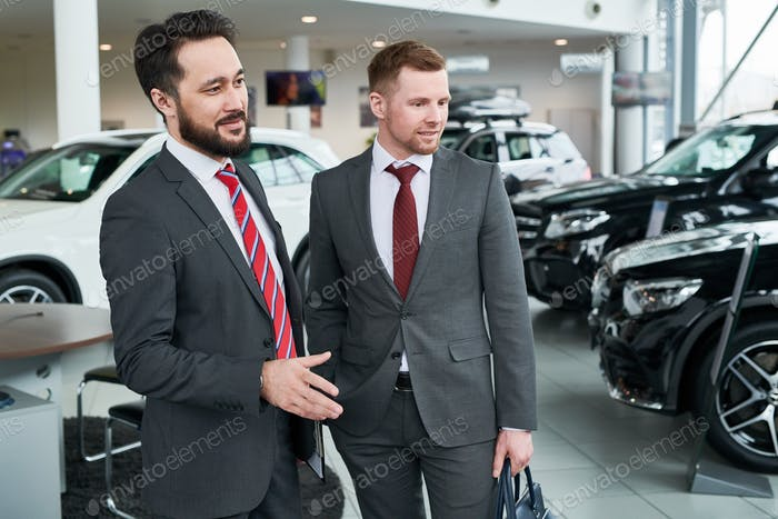 Salesman and buyer