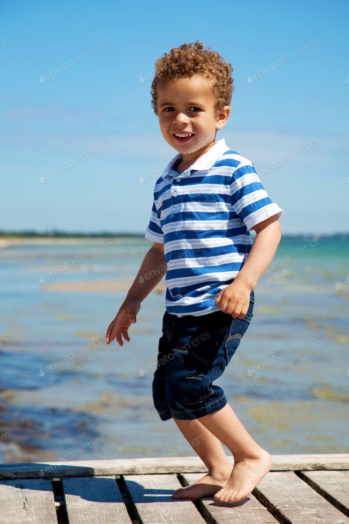 Adorable Kid Enjoying Summer