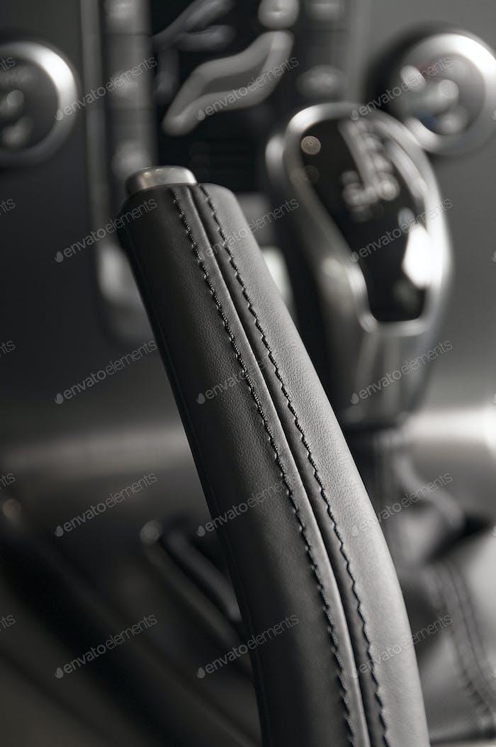 Autoinnenraum Getriebe Nahaufnahme
