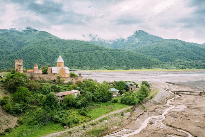 Castle complex Ananuri in Georgia, about 72 kilometres from Tbil