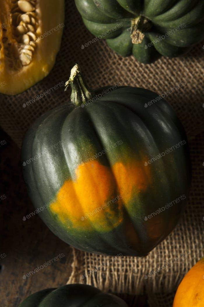 Raw Organic Green Acorn Squash
