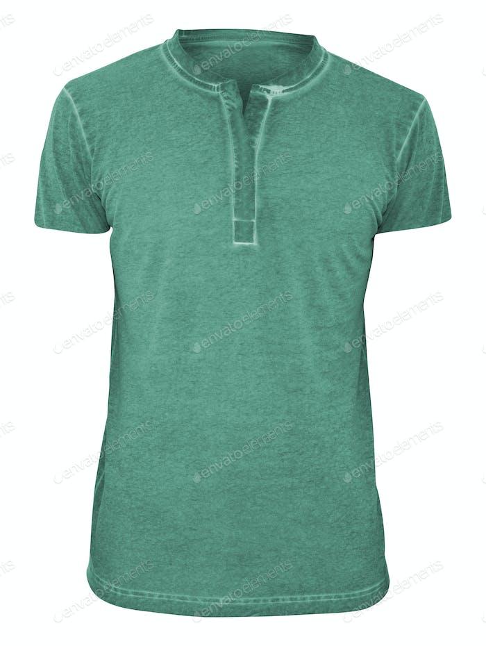 Green tshirt islated on white background