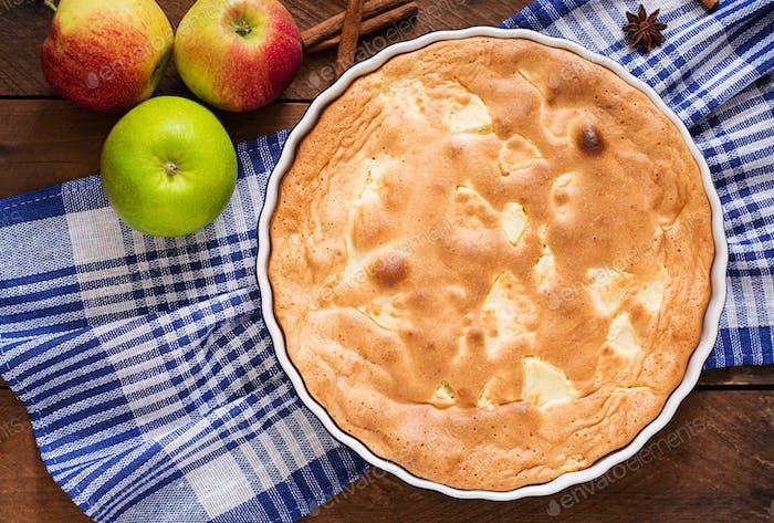 "Apple Pie ""Charlotte"" . Top view"