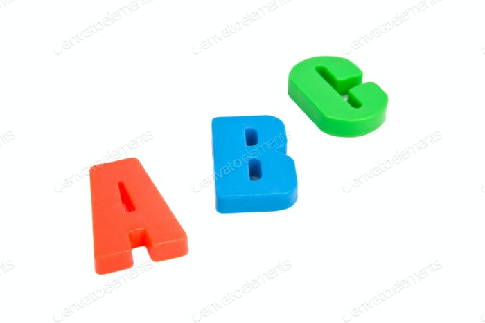 Lletters.  Isolated on white background.