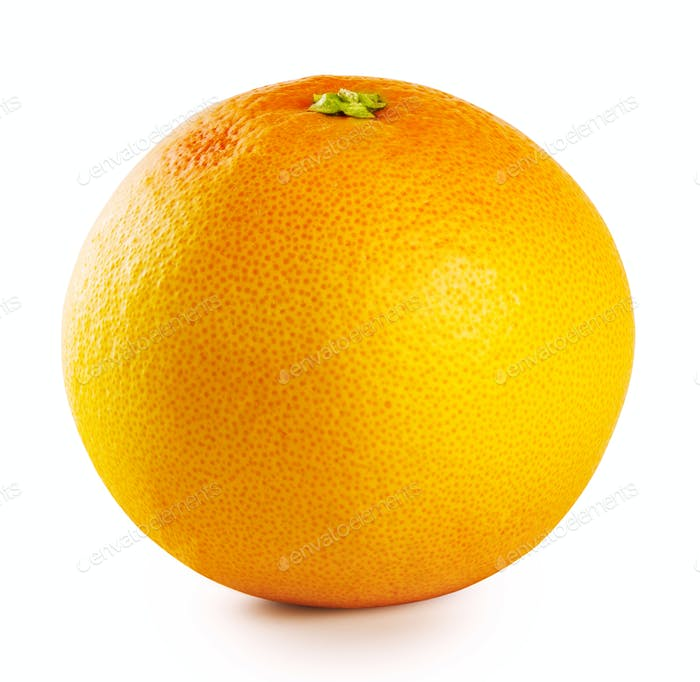 Orange round ripe grapefruit