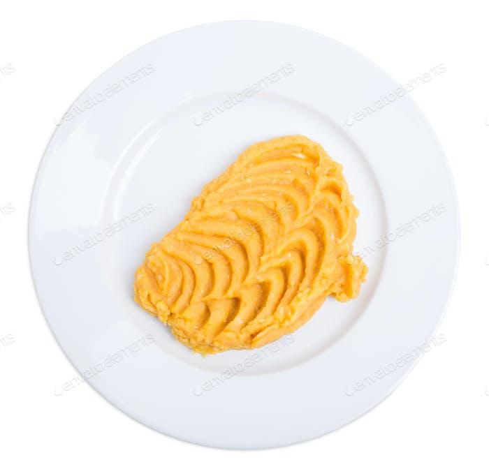 Mashed corn puree.