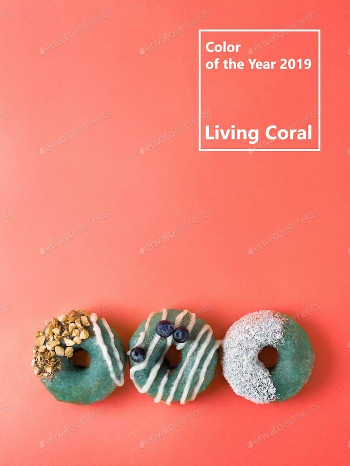 Farbe des Jahres 2019 Living Coral Konzept