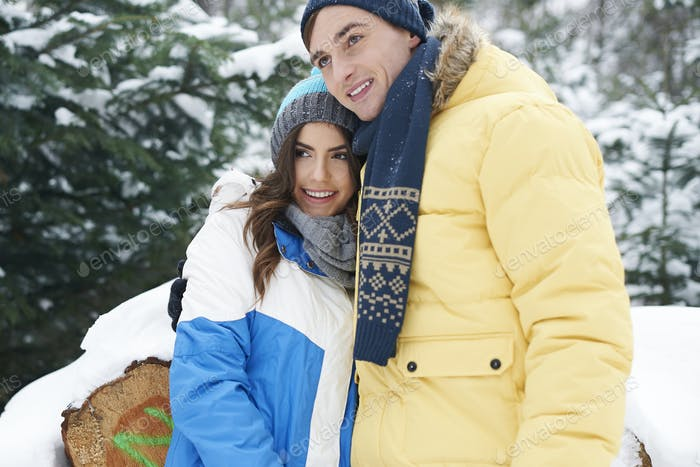 Winter is time for snuggling up with special person