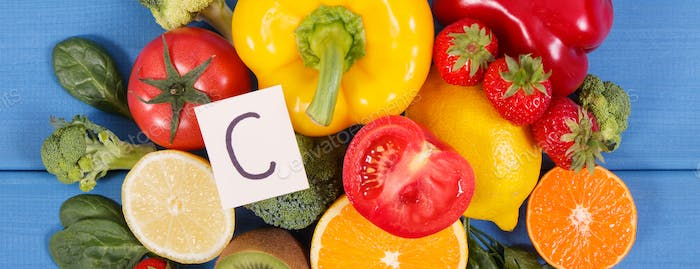 Ripe fruits and vegetables as sources vitamin C, dietary fiber and minerals