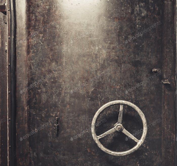 scratched metal door background