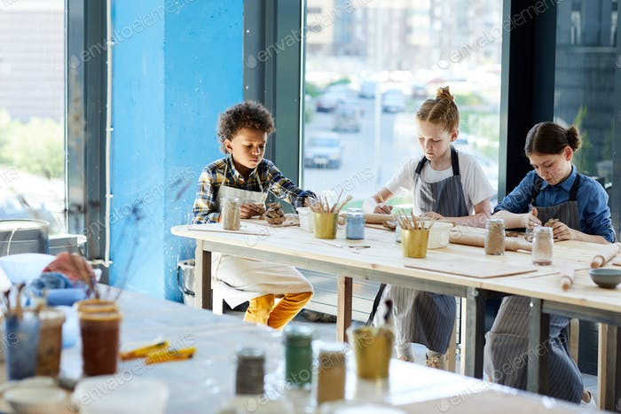 Kids in workshop