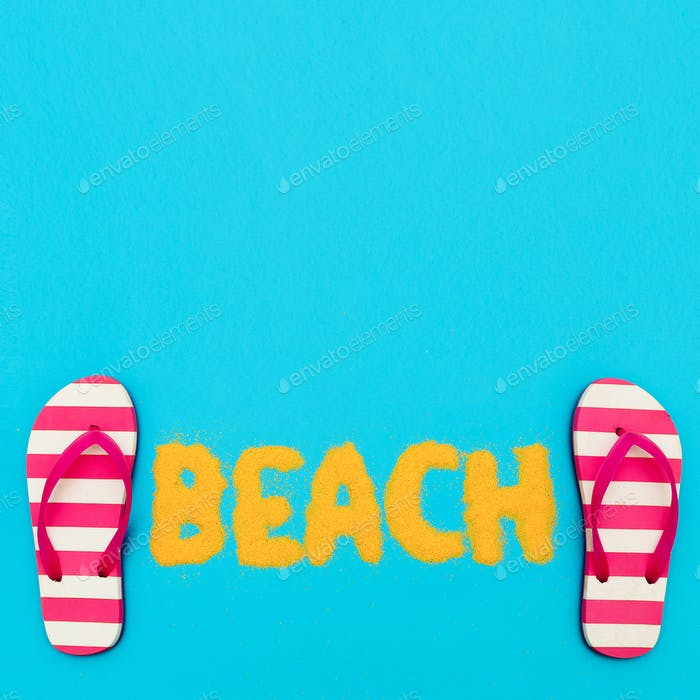Beach mood. vacation time. Minimal art