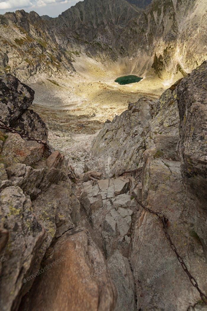 Photo of Mlynicka dolina and Capie pleso lake in High Tatra Mountains, Slovakia, Europe