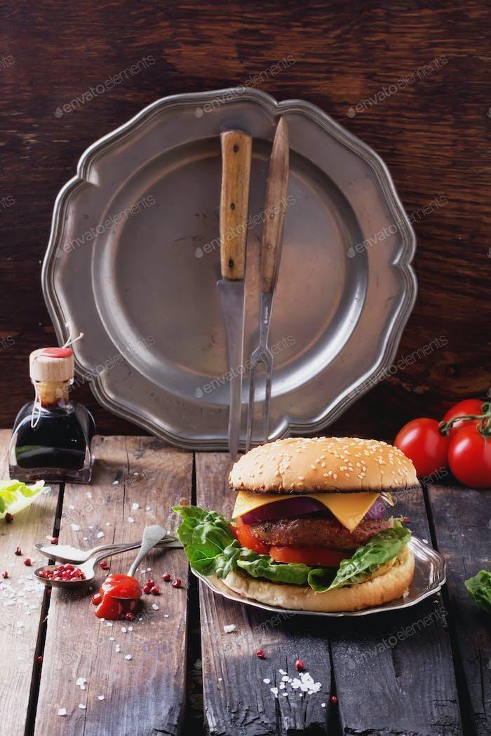 Hausgemachte Burger Kochen