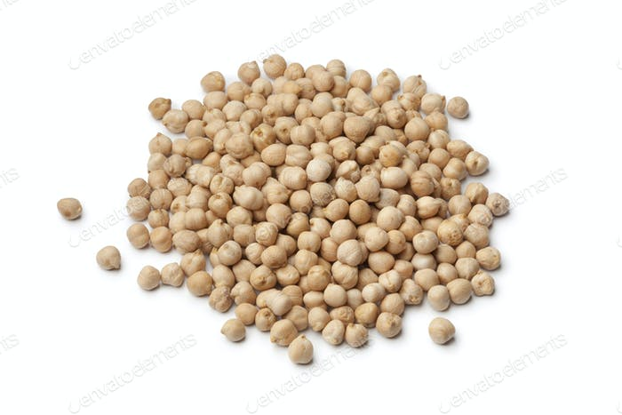 Heap of dried chickpeas