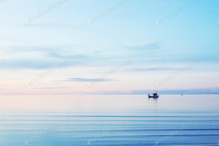 Sea with the blue sky