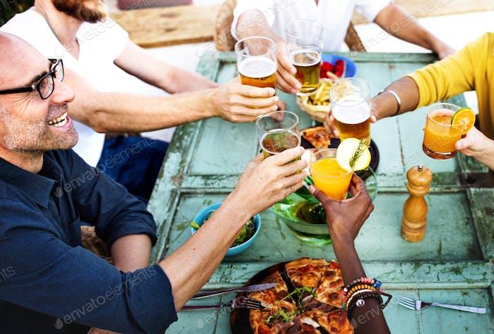 Party Happy Friends Drinks Fun Konzept
