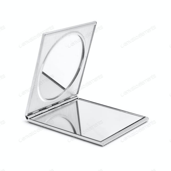 Open Metal Pocket Mirror