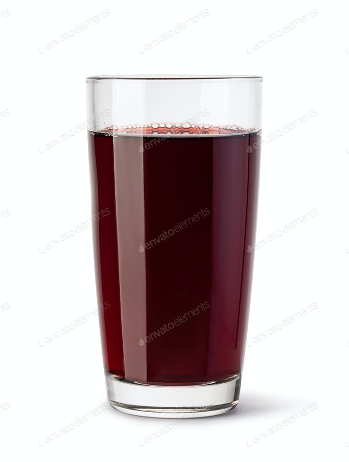 glass of blackberry juice