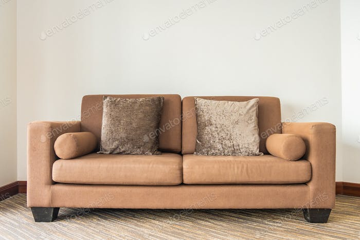 Pillow on sofa decoration interior of living room