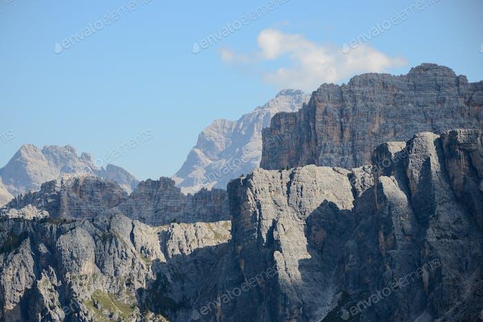 Dolomites mountains in Alta Badia, Italy