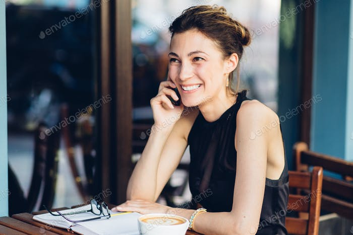 Attractive girl talking on the phone