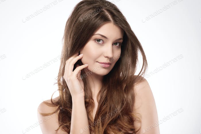 Beauty of a very young woman