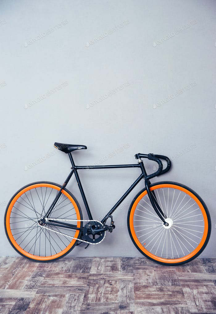 Closeup image of a bicycle