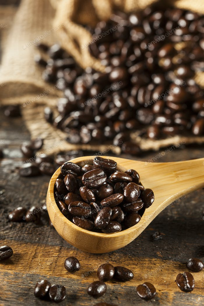 Organic Dark Coffee Beans