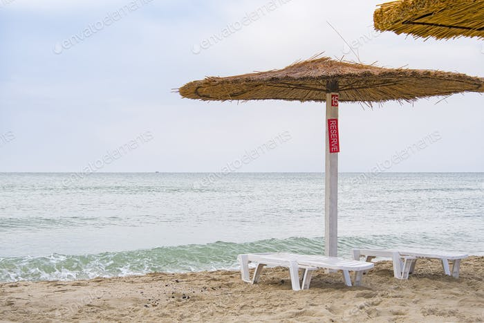 area reserved beach