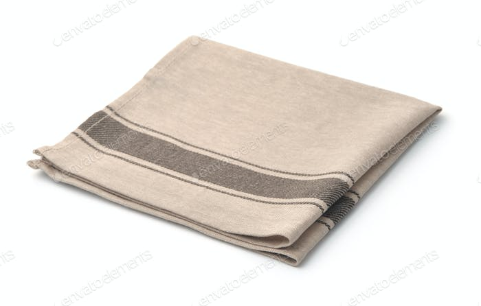Single beige linen napkin