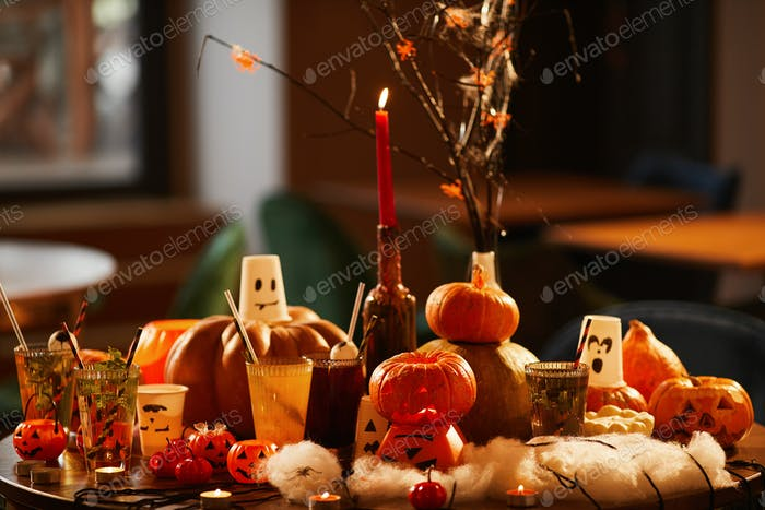 Halloween Party Decorations Background
