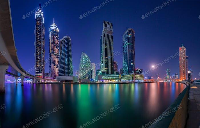 Skyline von Dubai City Center, Vereinigte Arabische Emirate