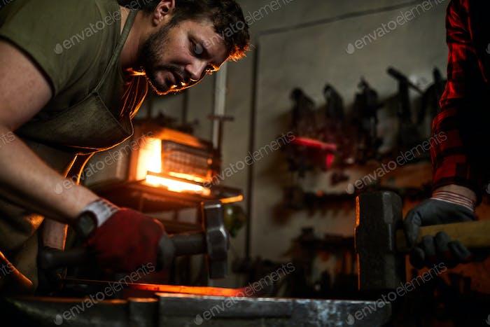 Work by anvil
