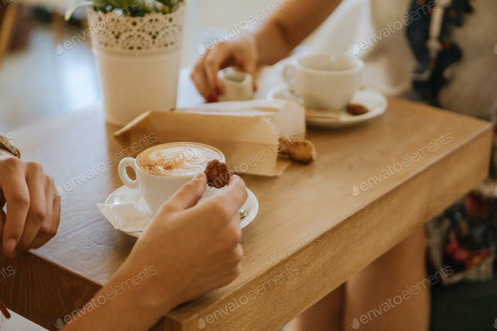 Breakfast And Coffee On A Wooden Table