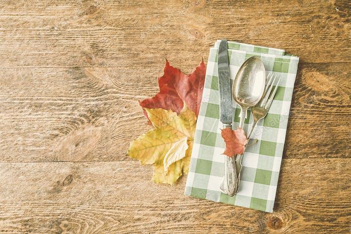 Herbstliche Gedeck