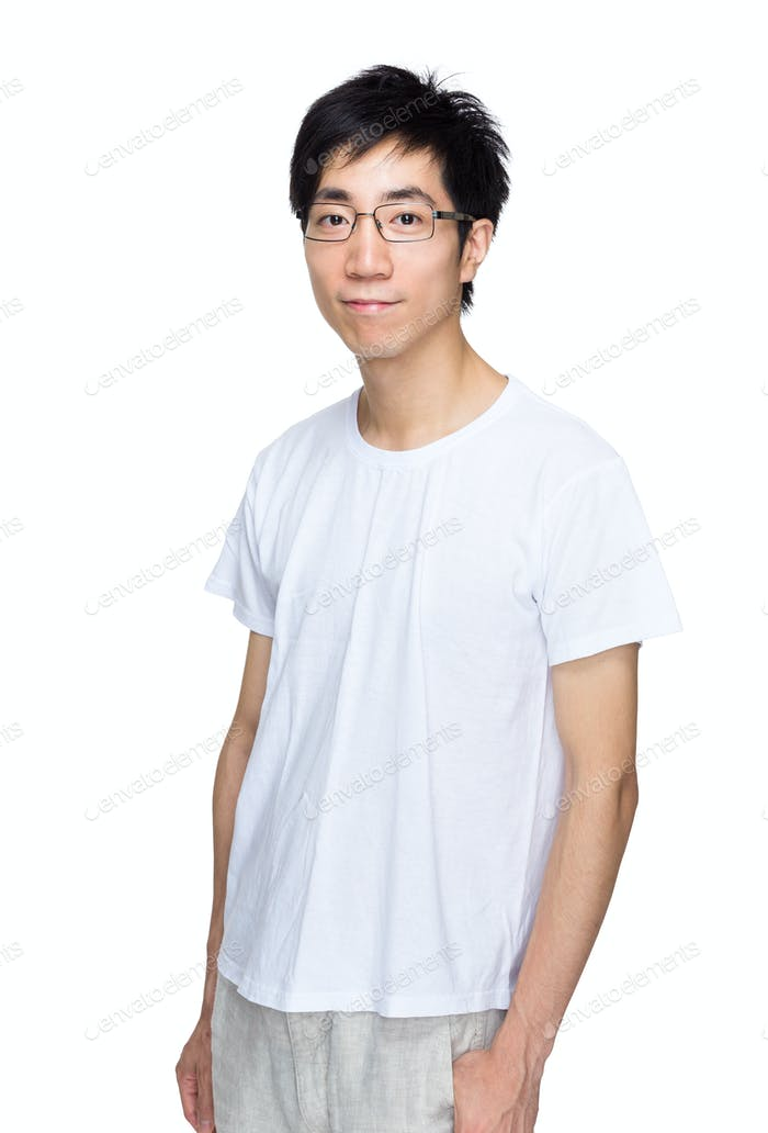 Asian man with smart casual wear