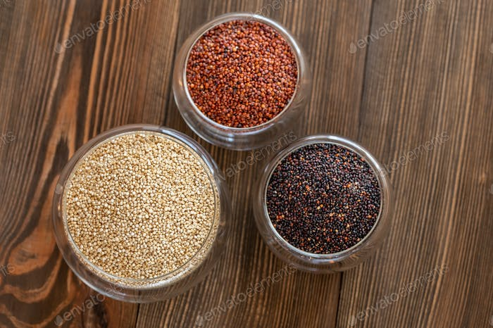 Different kinds of quinoa