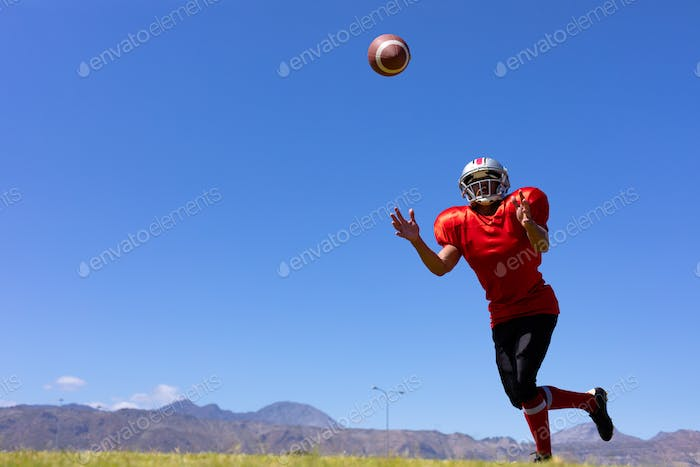 Football player playing football