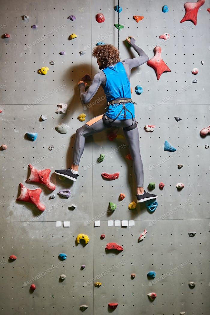Wall climbing practice