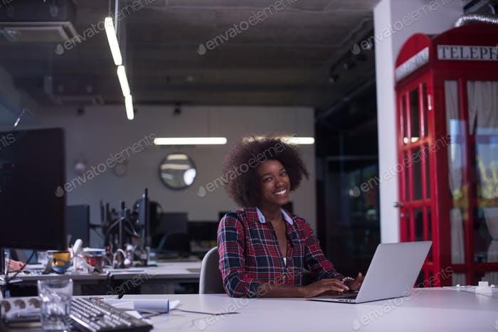 Thumbnail for portrait of a young successful African-American woman in modern