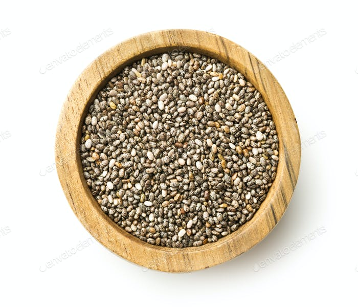 Healthy chia seeds.