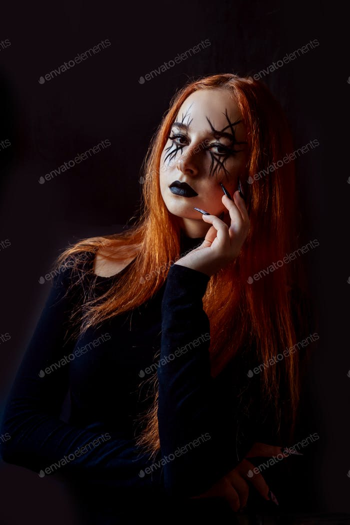 Halloween Witch on darkness.