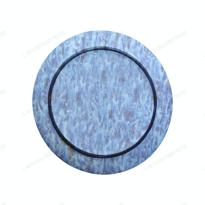 Decorative plate isolated