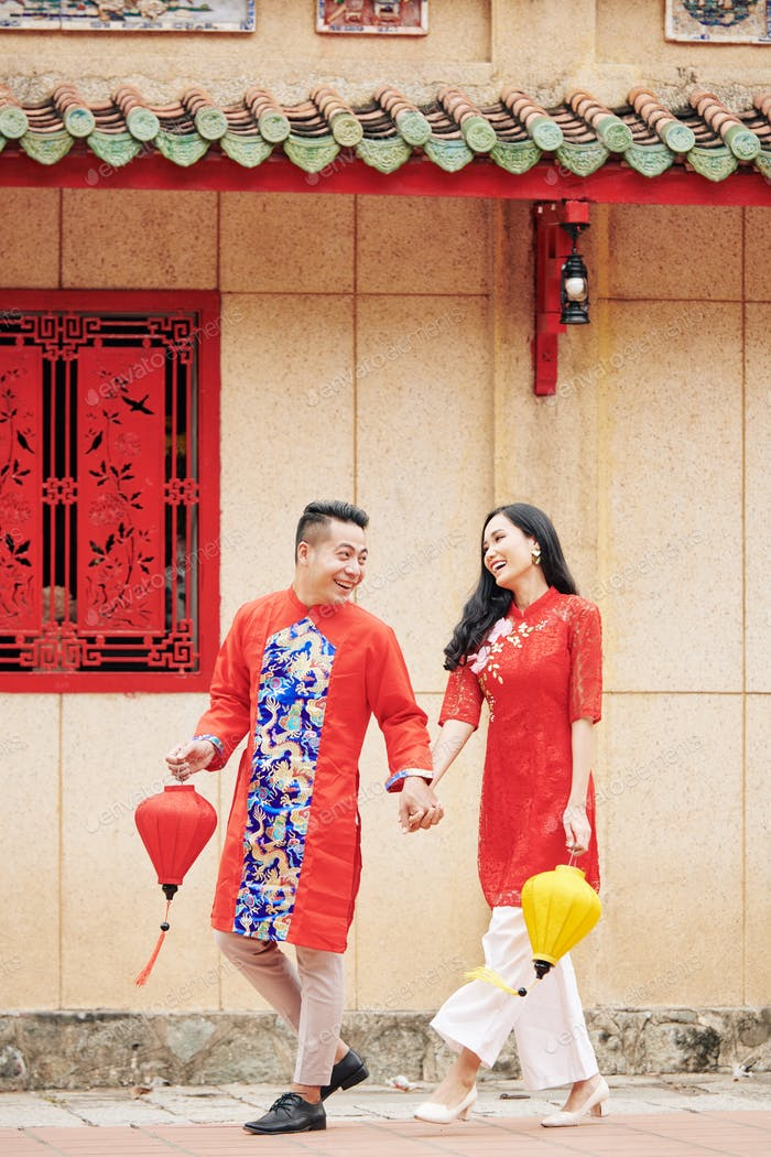 Vietnamese couple in love