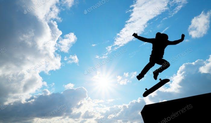 Skater jump silhouette